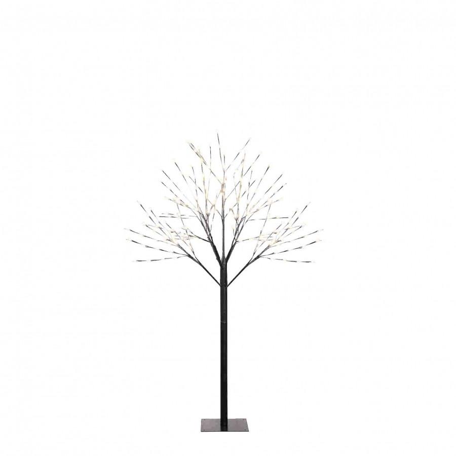 Albero in ferro chioma luminosa interno/esterno d110 h168 cm