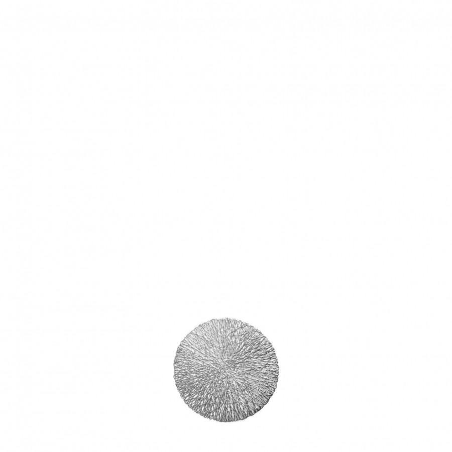 Sottobicchiere pvc intrecciato argento d10 cm
