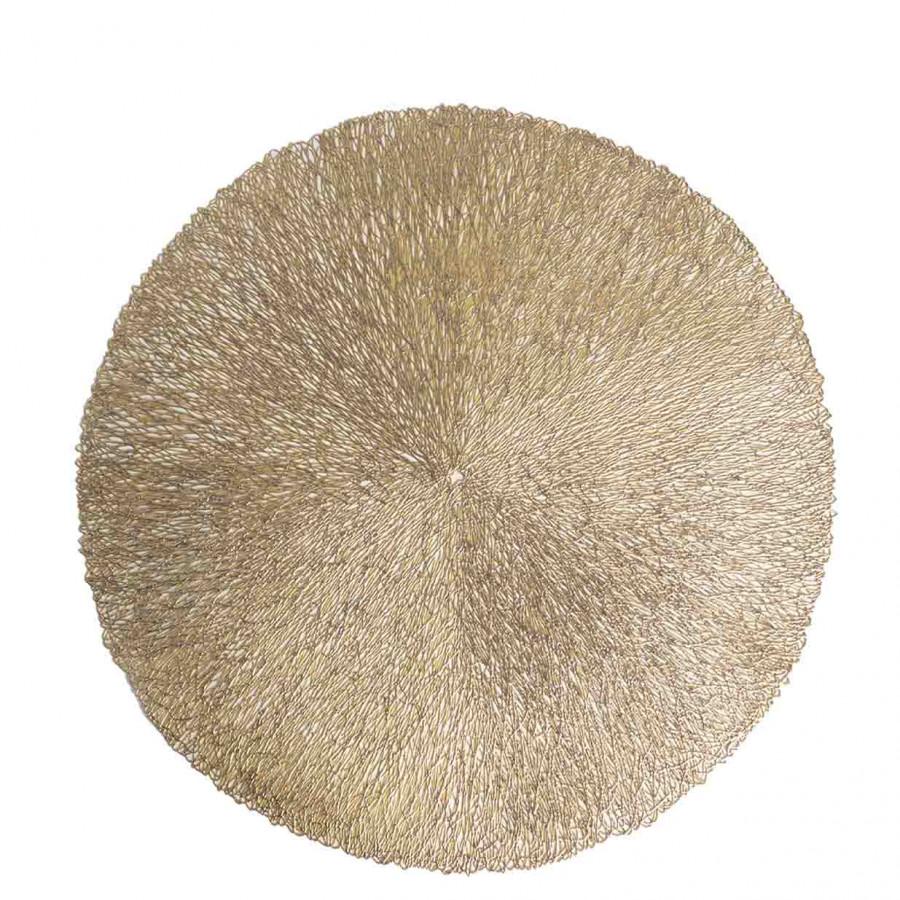 Sottopiatto pvc intrecciato oro d38 cm