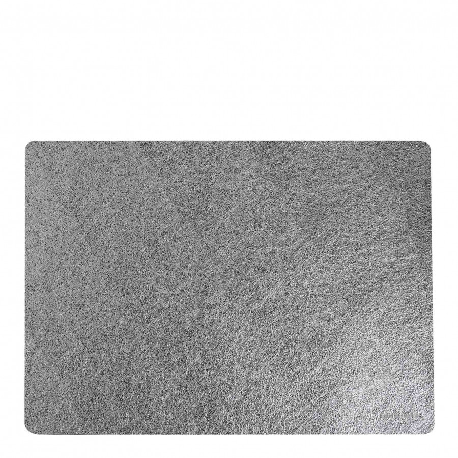 Set de table en faux cuir argentee metalique 32 x 45 cm