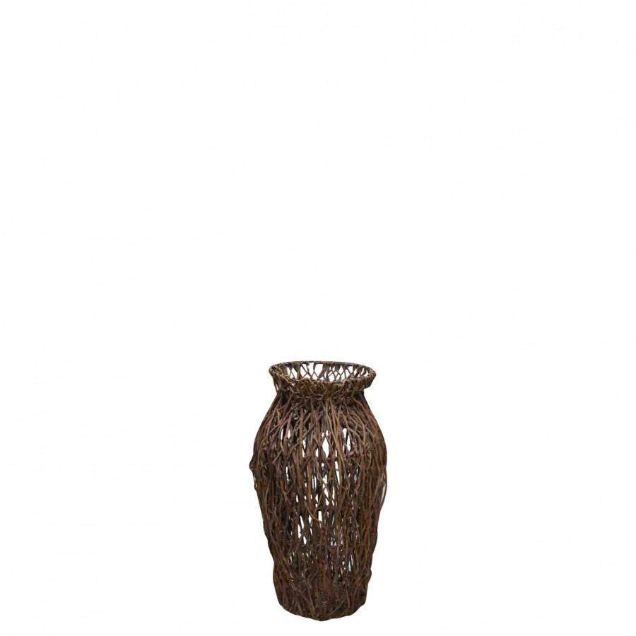 Cesto portaombrelli stecchi marrone h60 cm