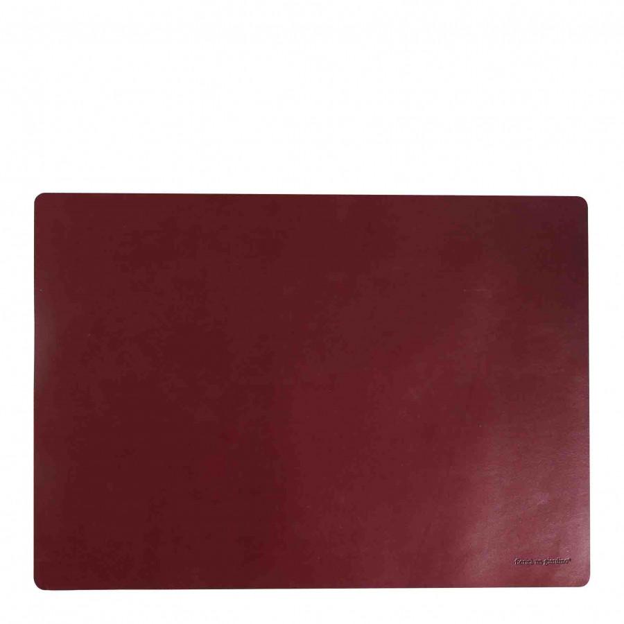 Bordeaux fake leather placemat 32 x 45 cm