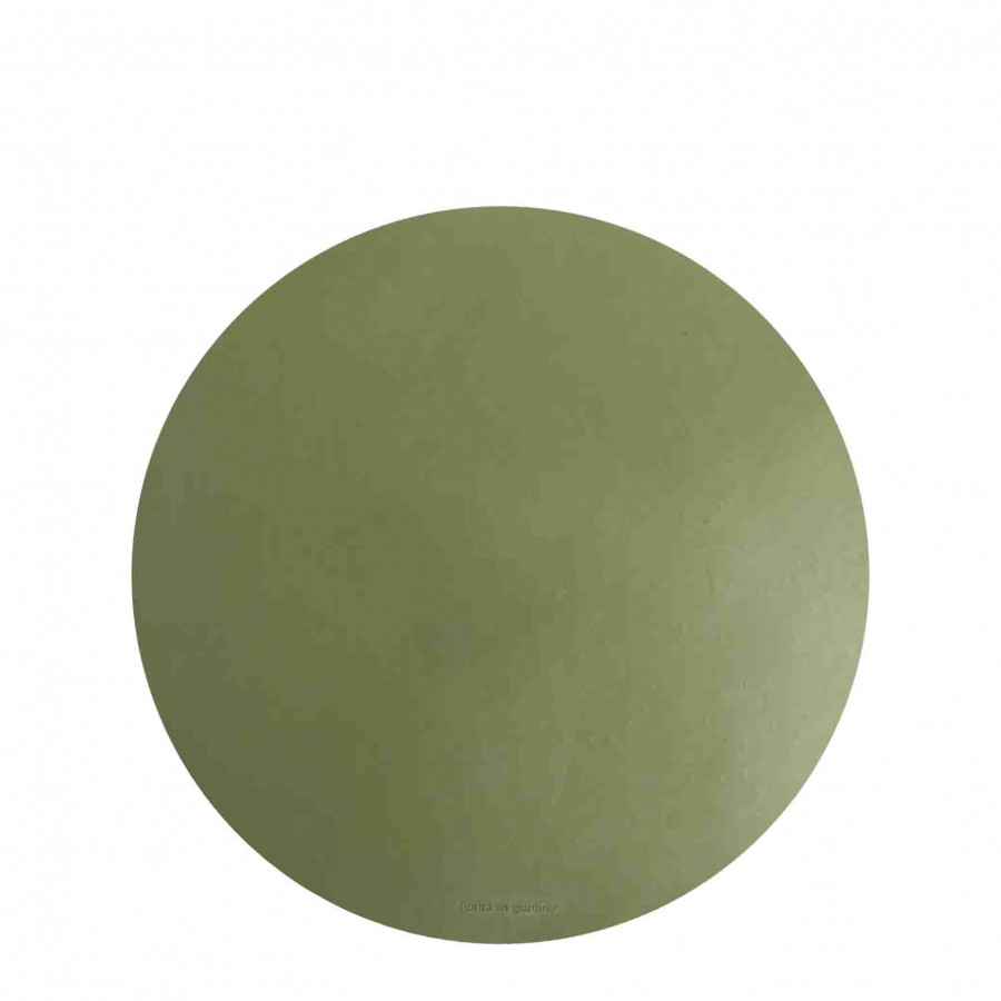Sousplat en faux cuir vert d33 cm