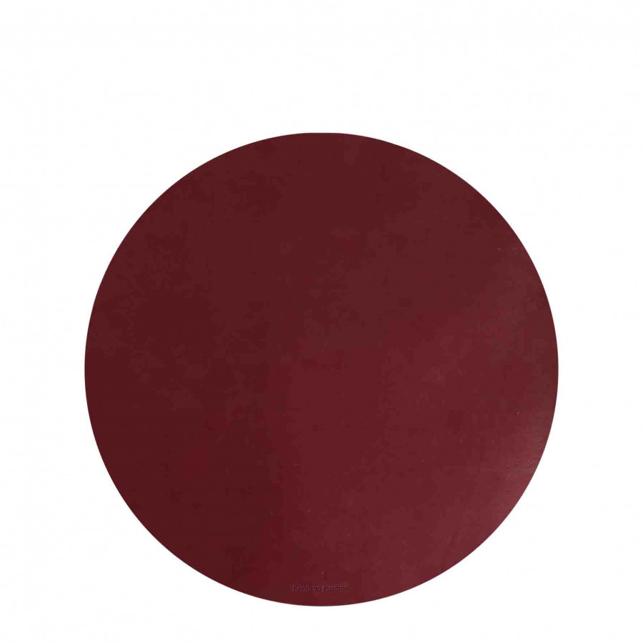 Sottopiatto similpelle bordeaux vino d33 cm