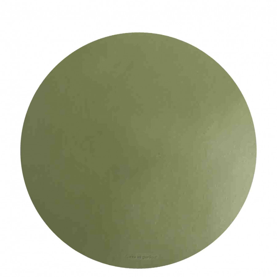 Sottopiatto similpelle verde d38 cm