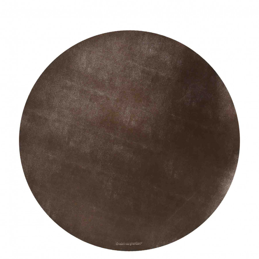 Brass fake leather underplate d38 cm