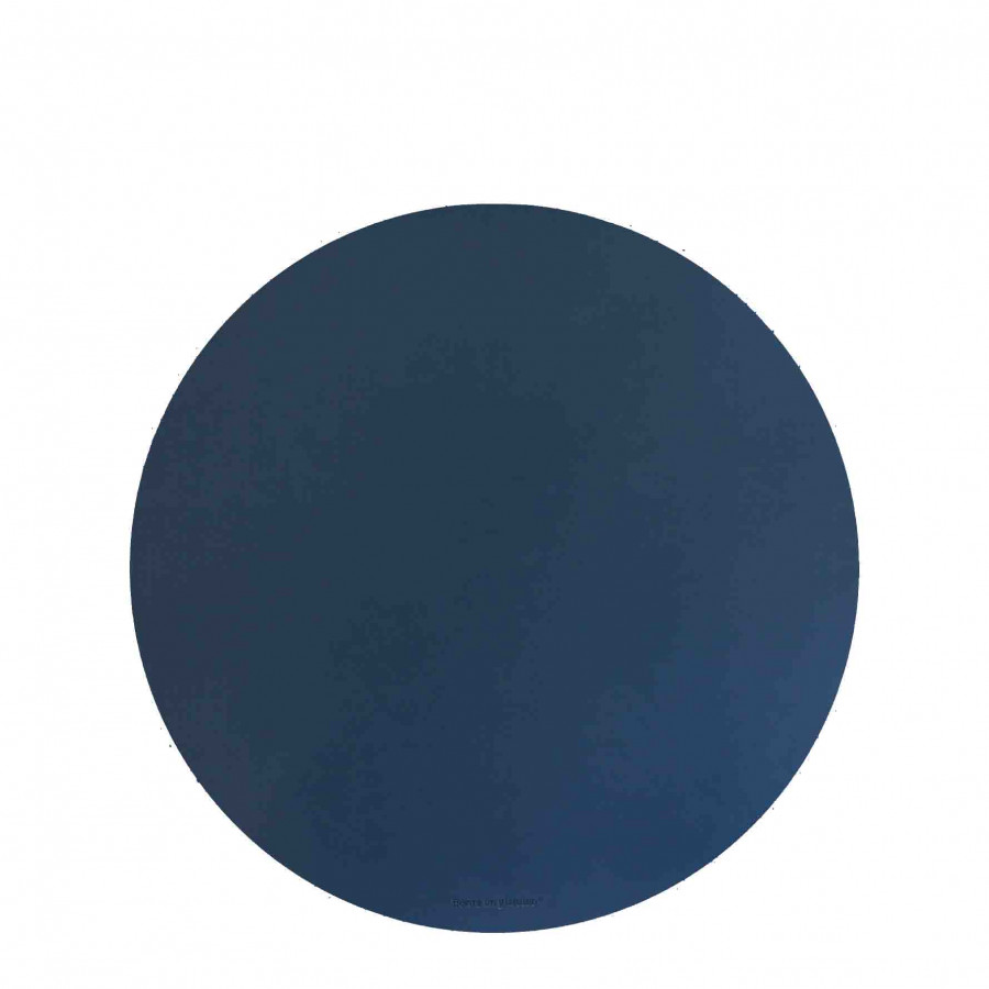 Blue fake leather underplate d33 cm