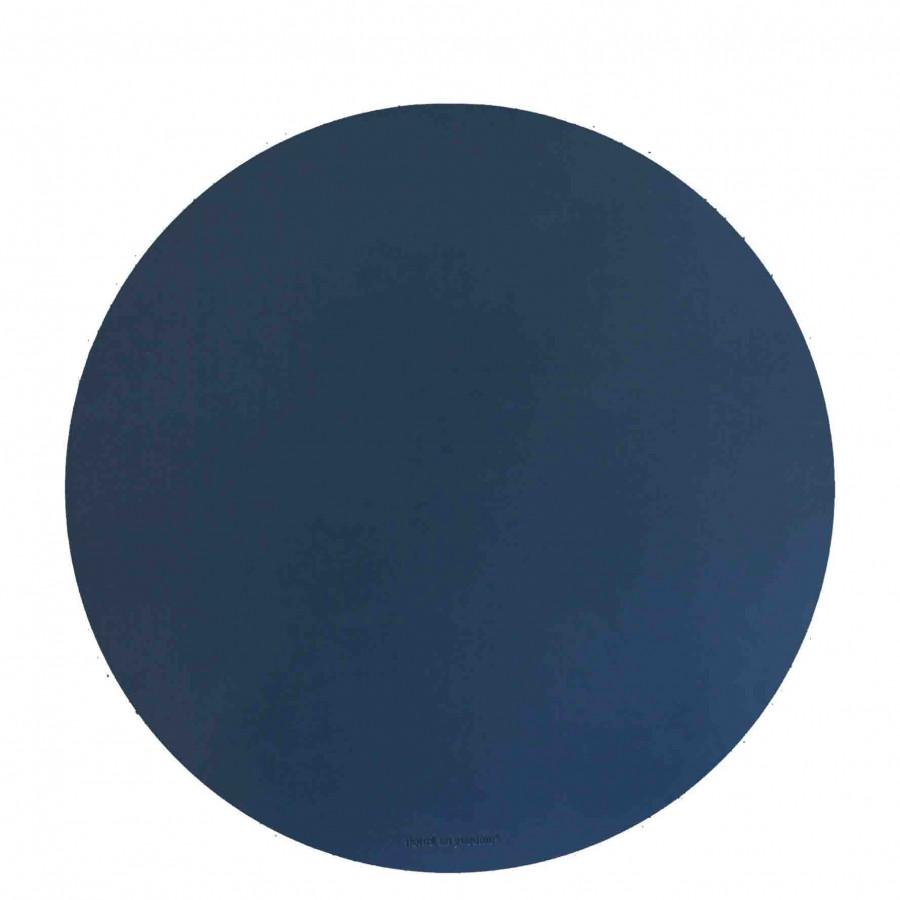 Sousplat en faux cuir bleu d38 cm