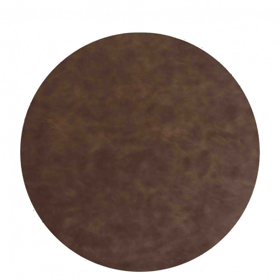 Brown vintage fake leather underplate d38 cm