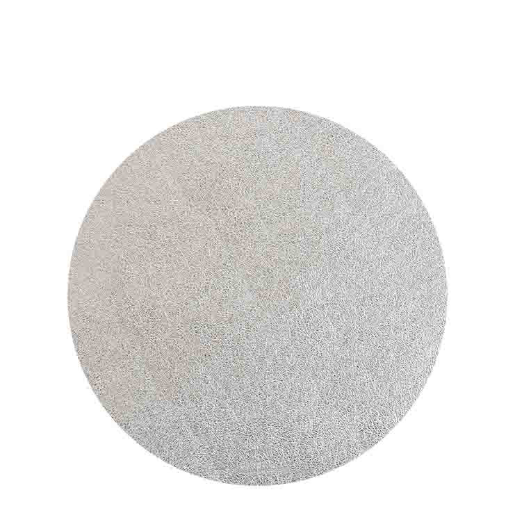 Silver fake leather underplate d33 cm