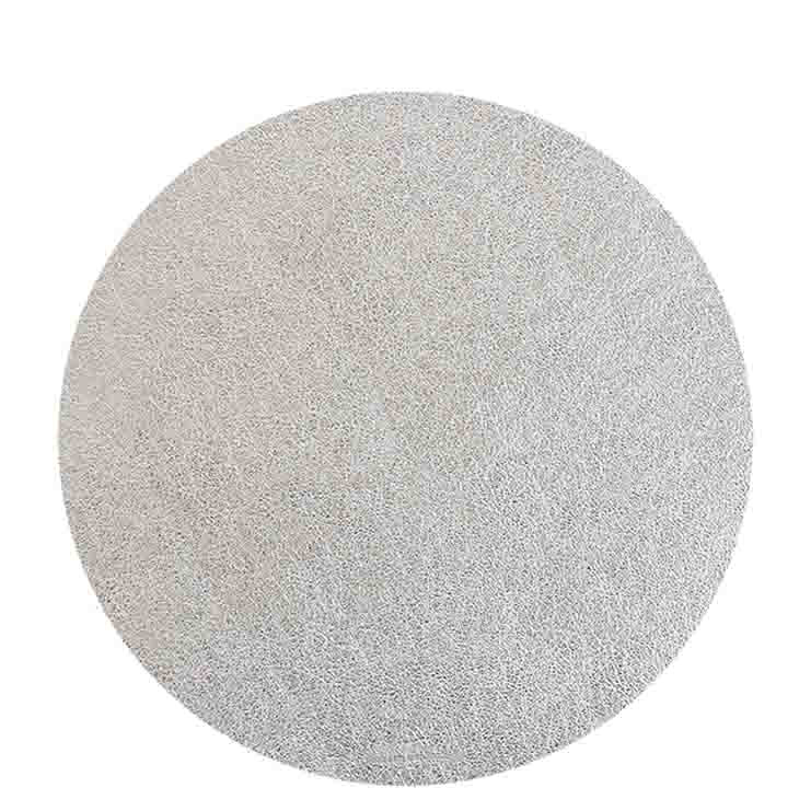 Silver fake leather underplate d38 cm