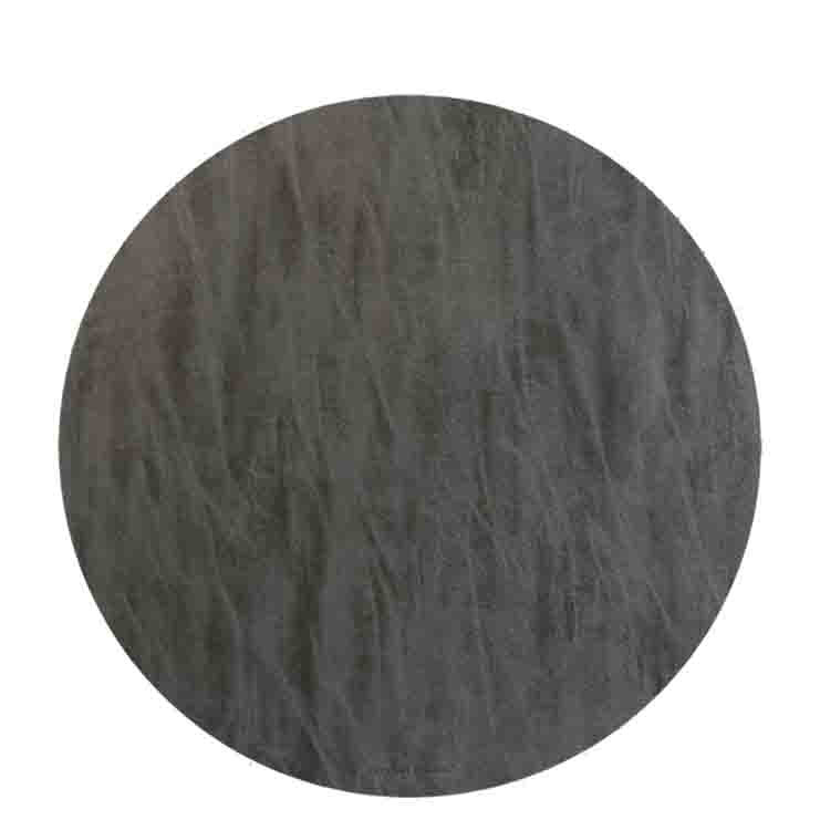 Anthracite fake leather underplate d38 cm