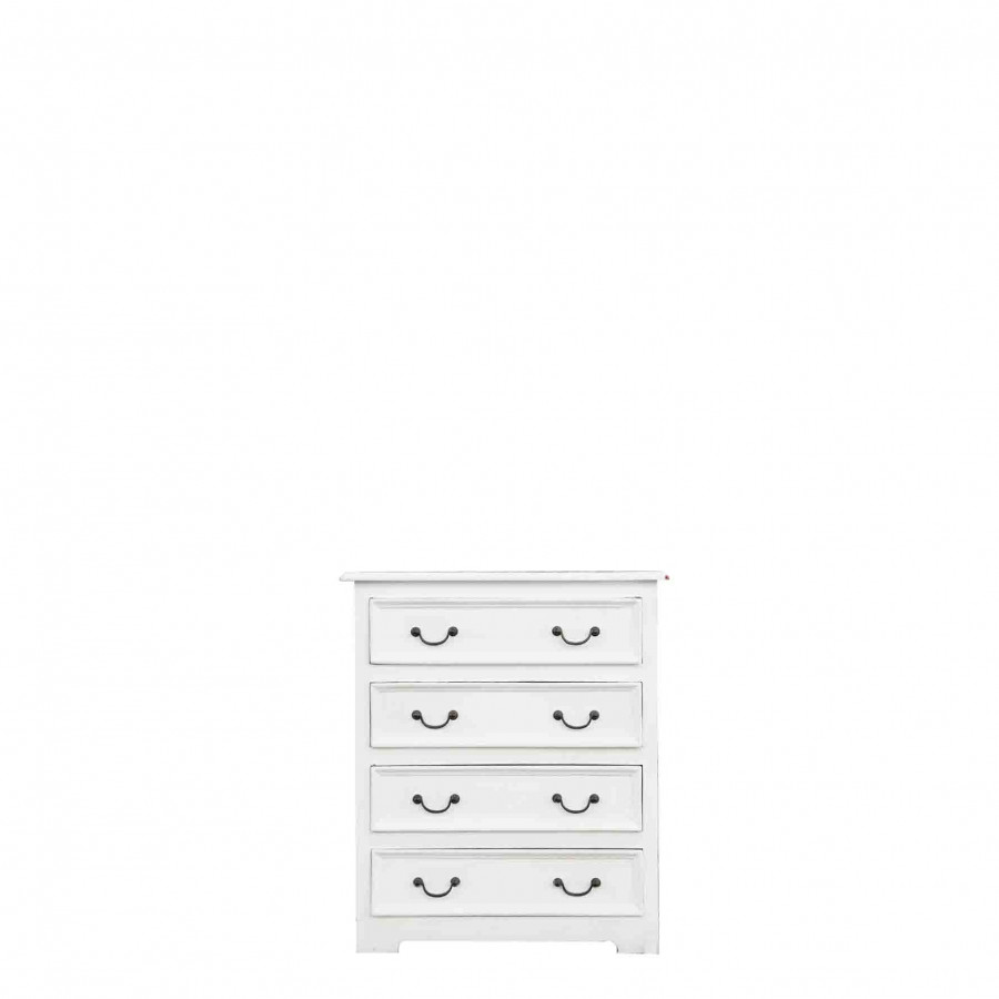 Como' 4 cassetti bianco 70 x 37 h82 cm