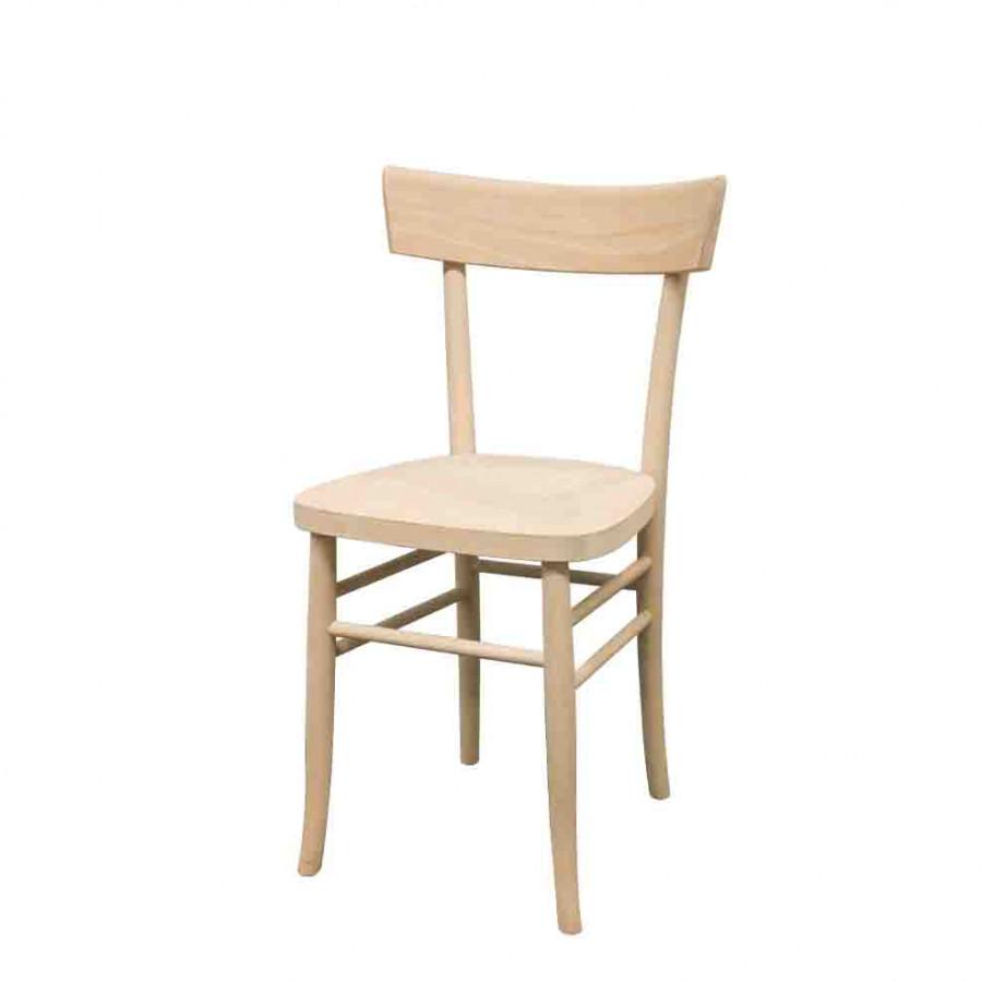 Sedia in faggio sedile tamburato grezza h81 cm