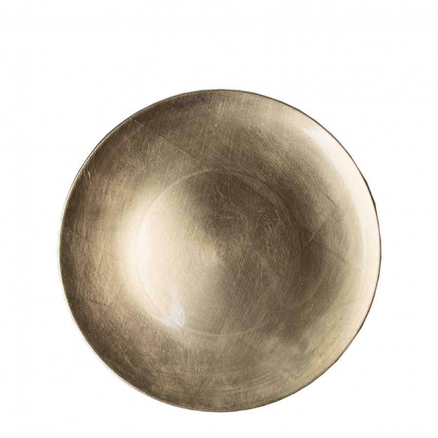 Sous-assiette en plastique dore d33 cm