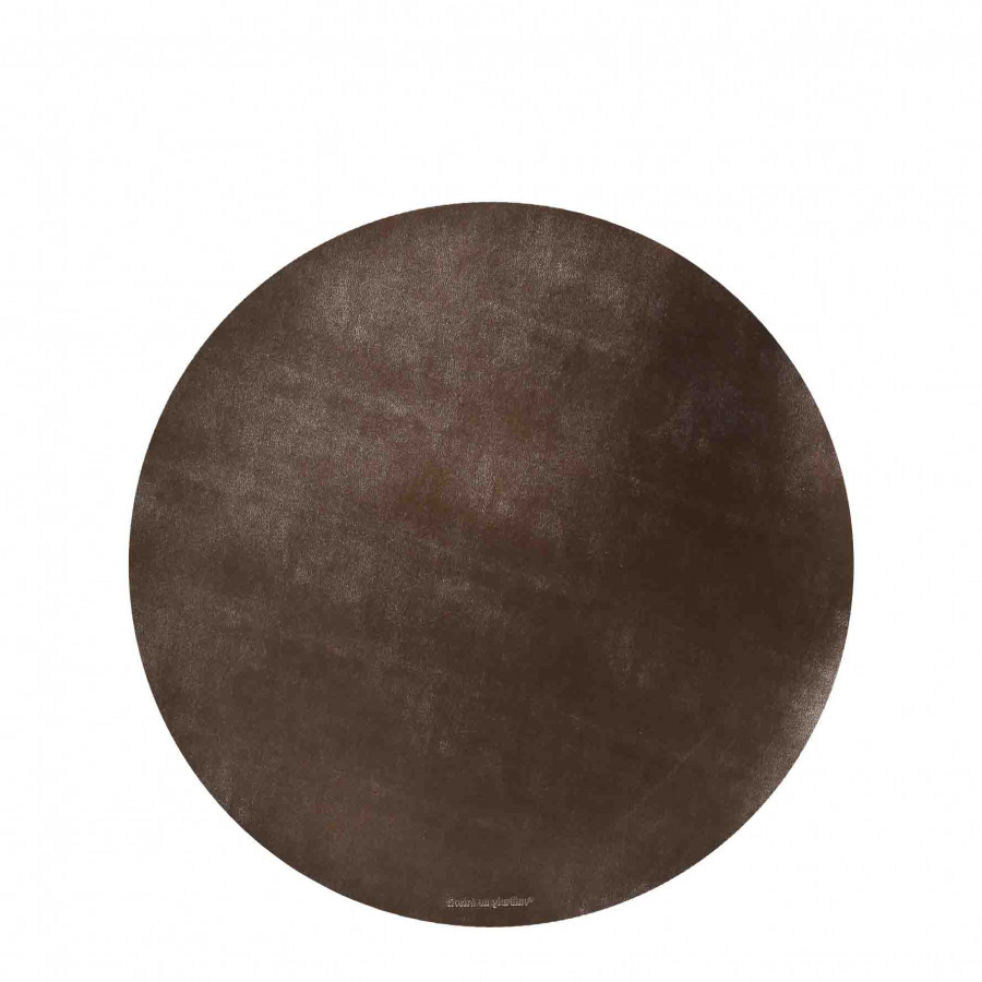 Sottopiatto similpelle ottone d33 cm