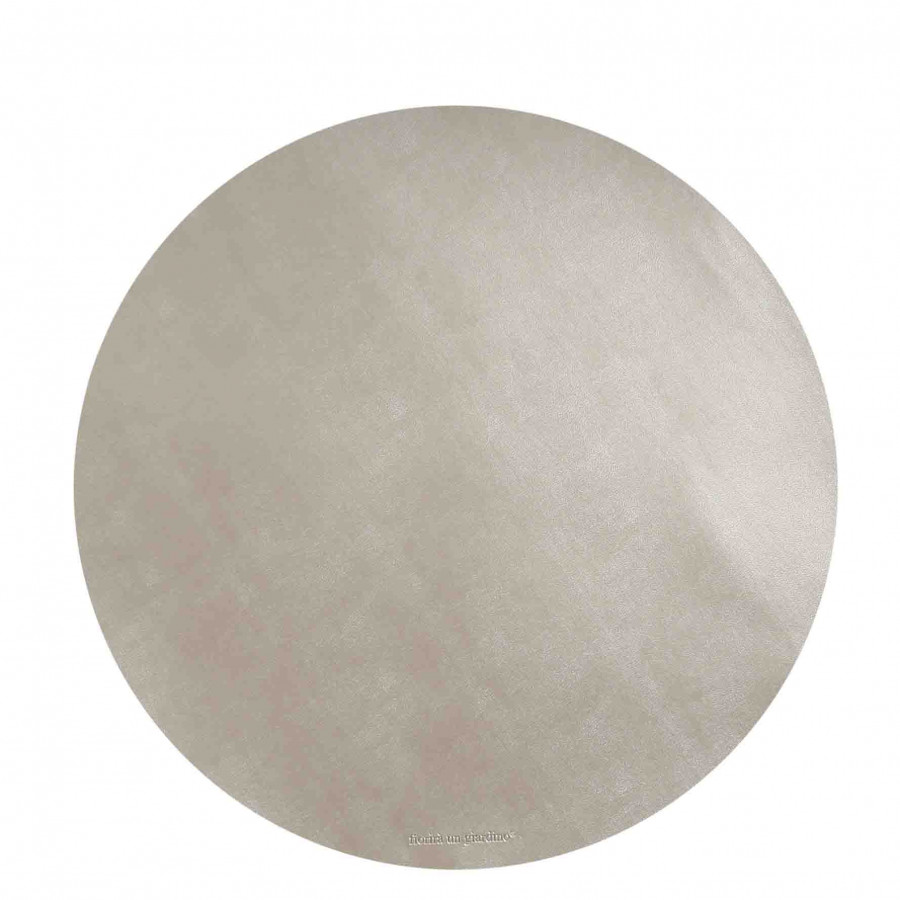 Sottopiatto similpelle perla d38 cm