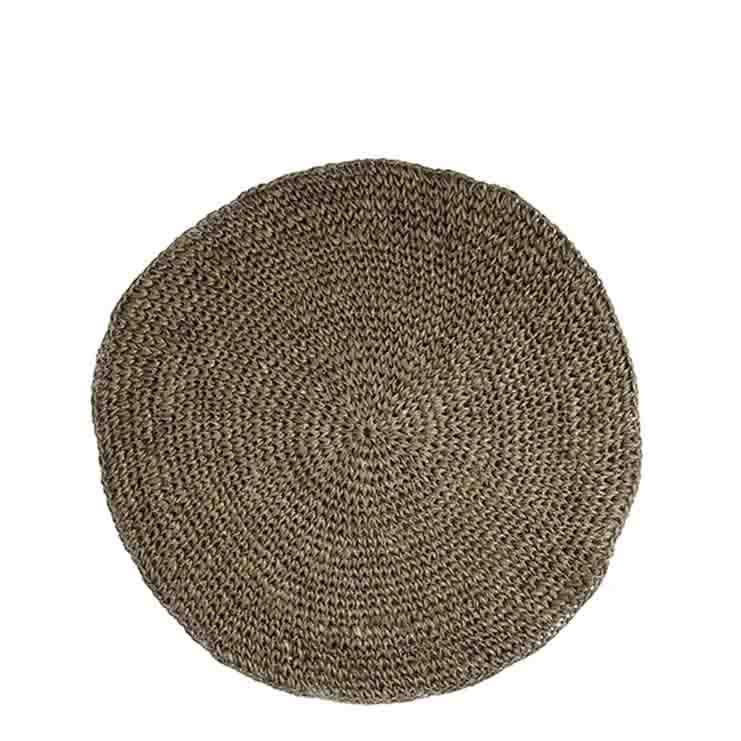 Crochet underplate natural colour d35 cm