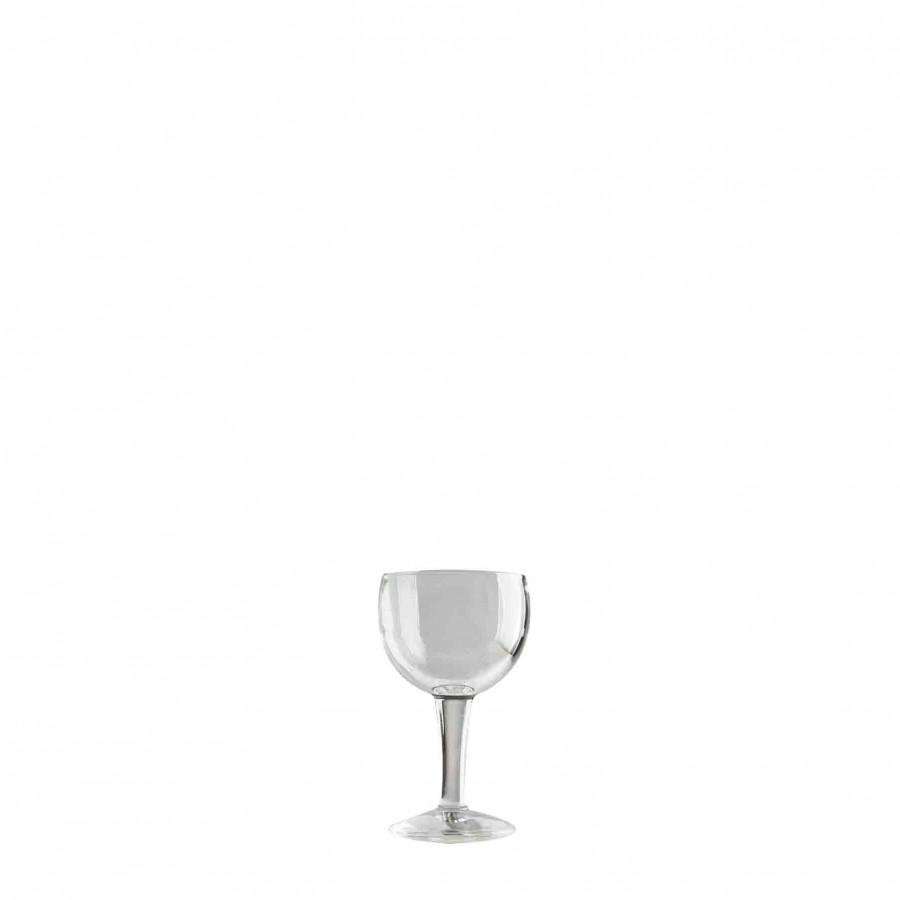Calice vino vetro spesso lineare d7 h13 cm