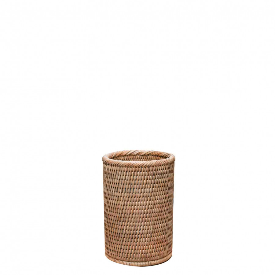 Wicker bottleholder d13 h20 cm