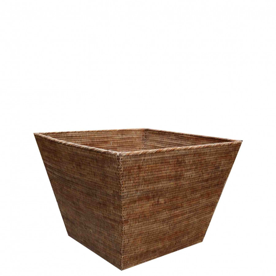 Cesto trapezoidale midollino maxi 70 x 70 h50 cm