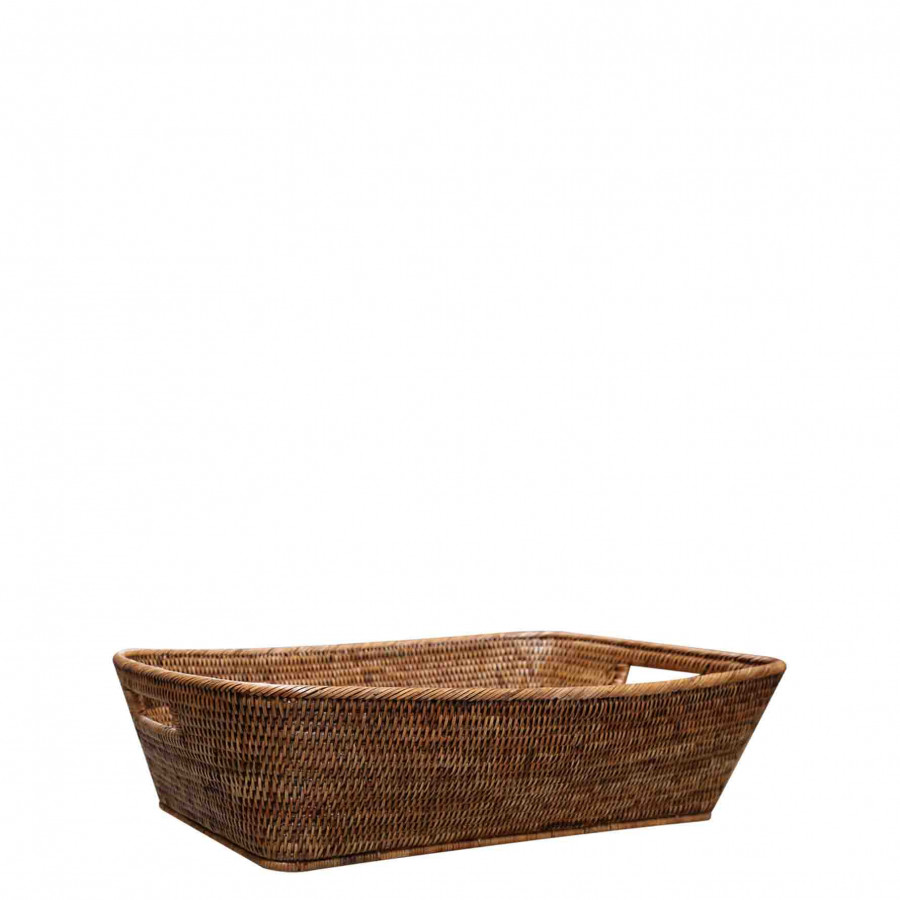 Wicker basket with handles 40x60 h17 cm