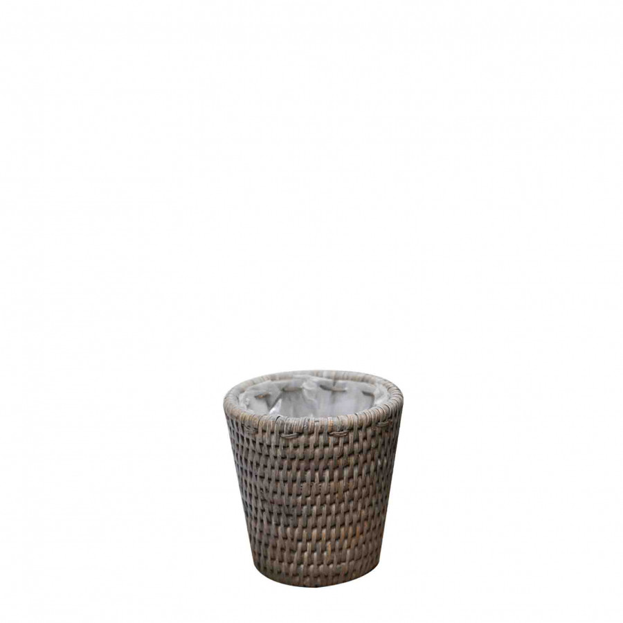 Wicker basket/cachepot d18 h15 cm