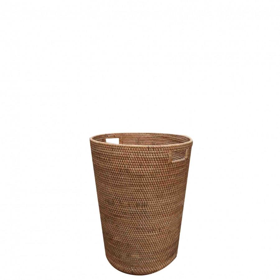 Wicker laundry basket d45 h58 cm