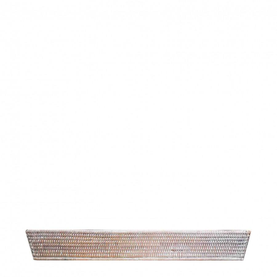 Porte-baguette en oisier blanc 10x62 h10 cm