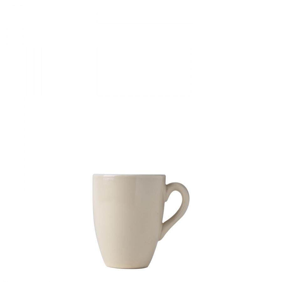 Tazzina crema interno bianco con manico d6.5 h8.5 cm