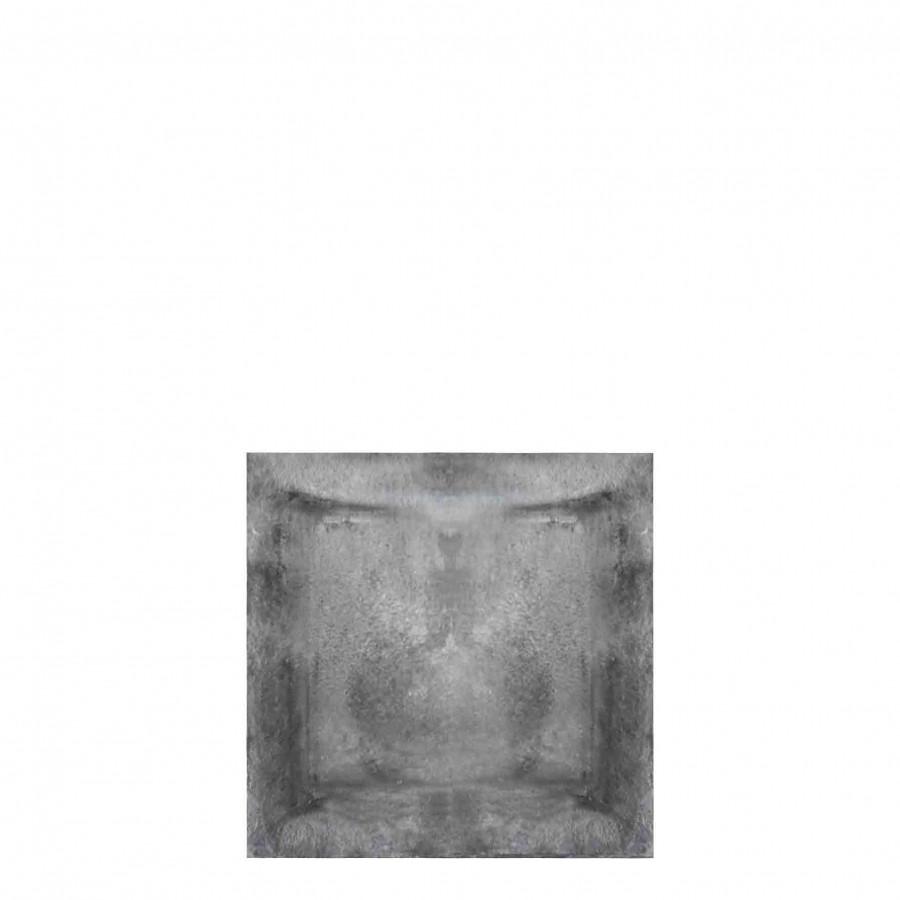 Assiette en fonte gris 25x25 cm