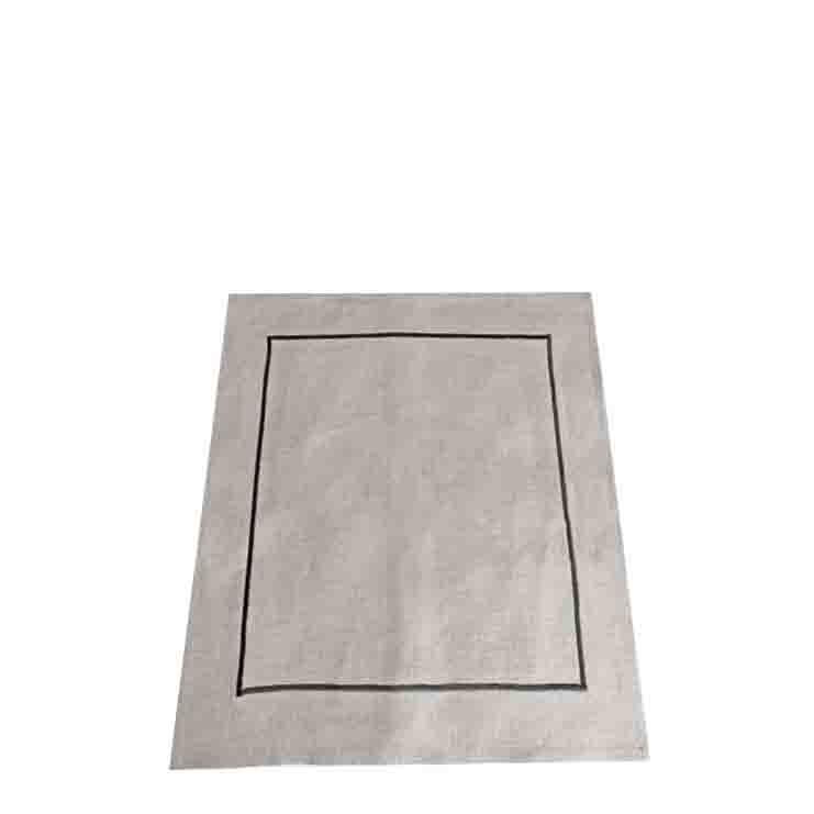 Canovaccio 100% lino naturale cornice int. nera 50 x 70 cm
