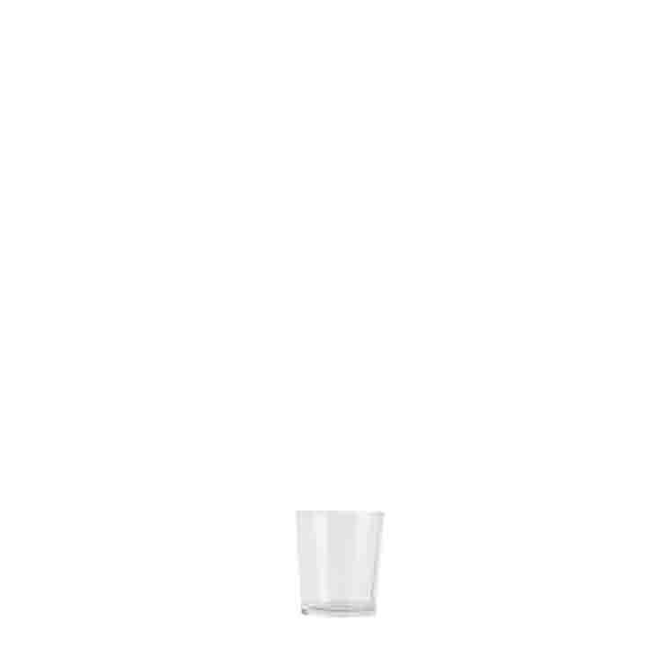 Vasetto in vetro trasparente d5.7 h6.8 cm