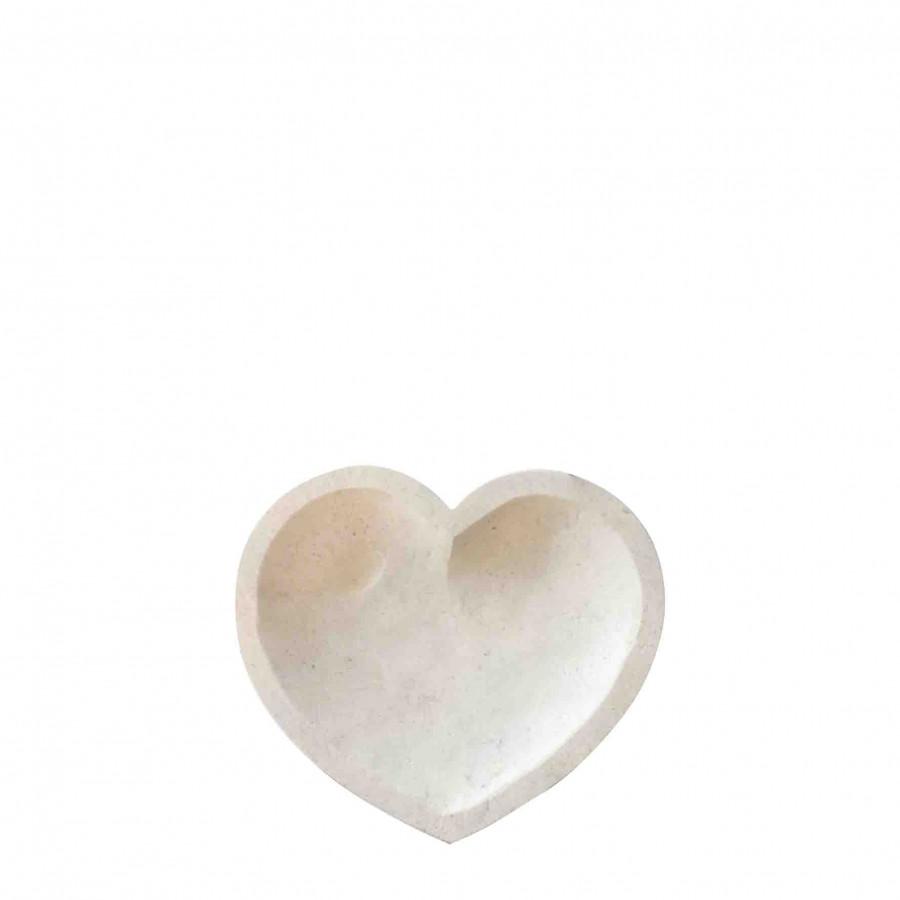 Portasapone cuore pietra chiara 12 x 11 h1.5 cm