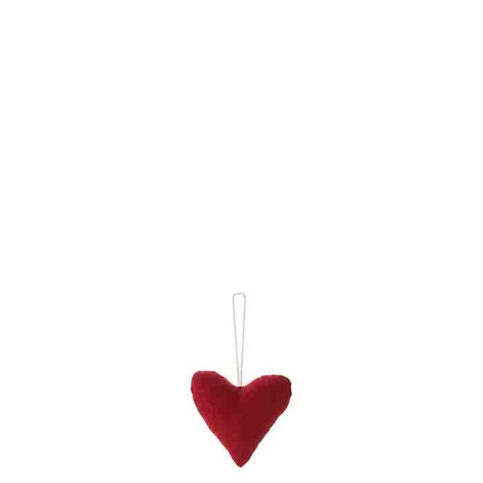 Coeur en coton rouge h7.5 cm