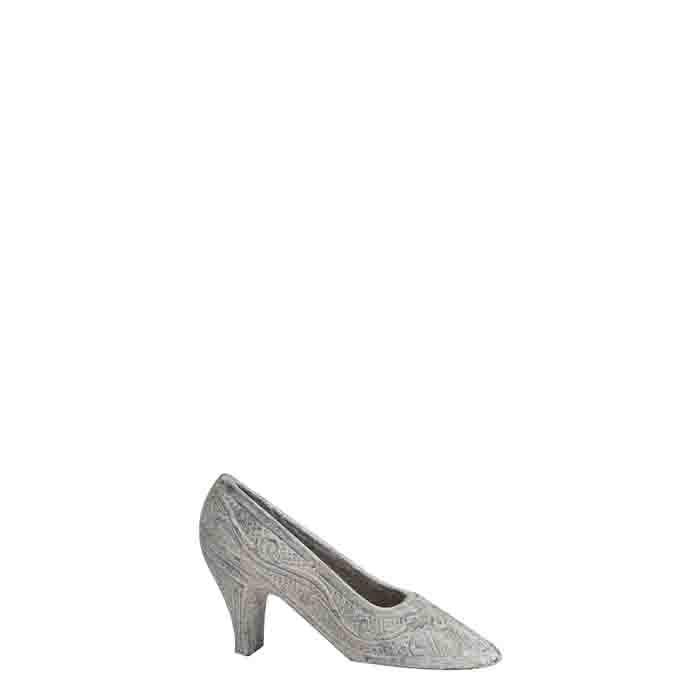 Chaussure avec talon en fonte grise