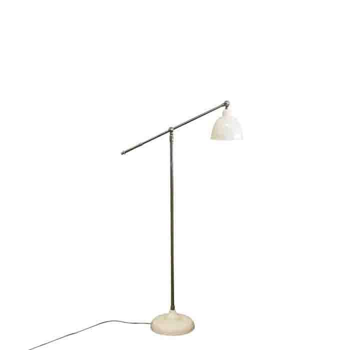 Lampe blanche avec structure en metal h67 cm