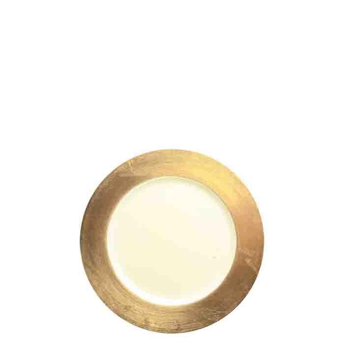 Sottopiatto plast. bianco bordo oro seconda scelta d33 cm