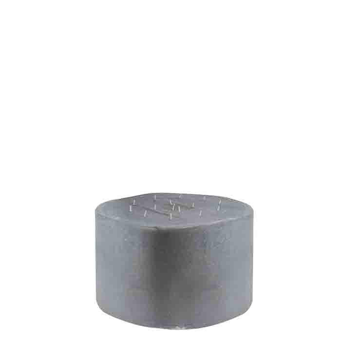 Bougie geante grise avec 15 feux d38 h25 cm