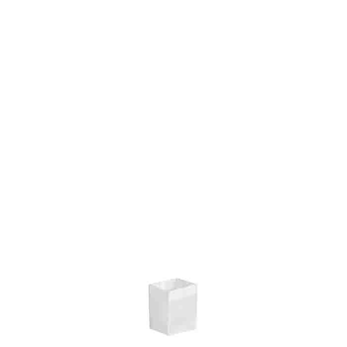 Petit sac rigid en filet blanc 7x7 h9 cm