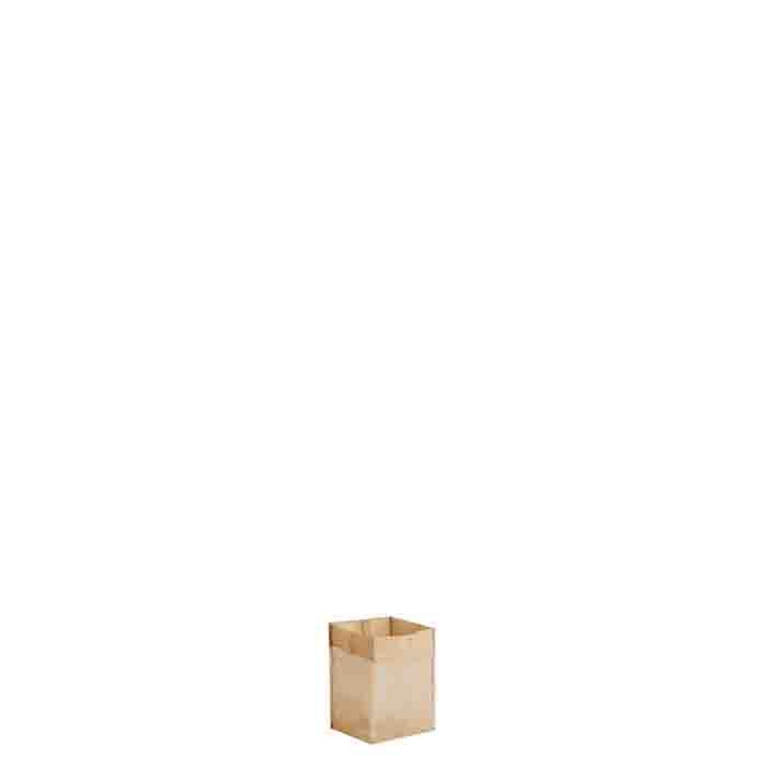 Petit sac rigid en filet dore 7x7 h9 cm