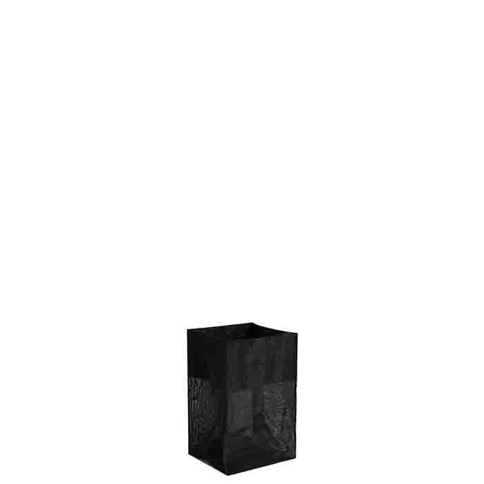Sacchetto polietilene rigido rete grigio 13 x 13 h20 cm