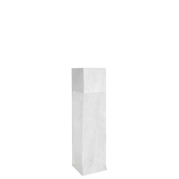 Sacco polietilene rete bianco 13 x 13 h50 cm