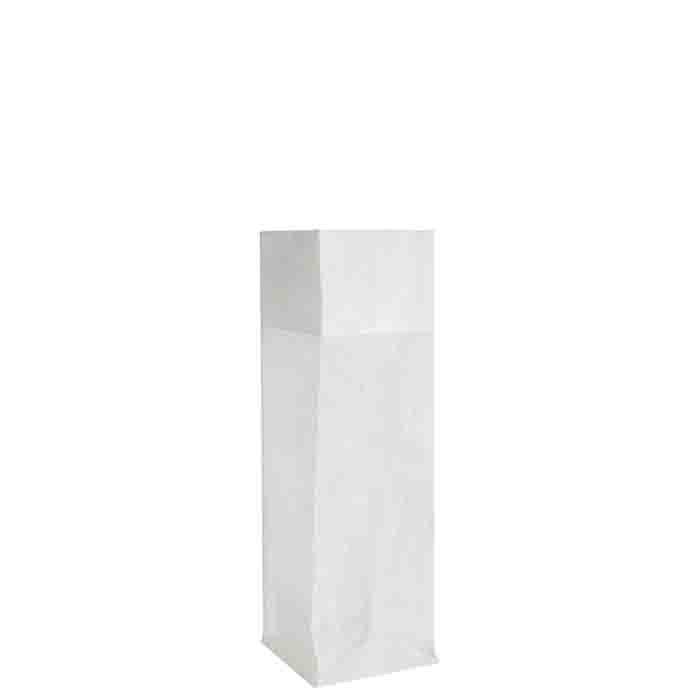 Sac blanc en filet de polyethylene  22x22 h68 cm