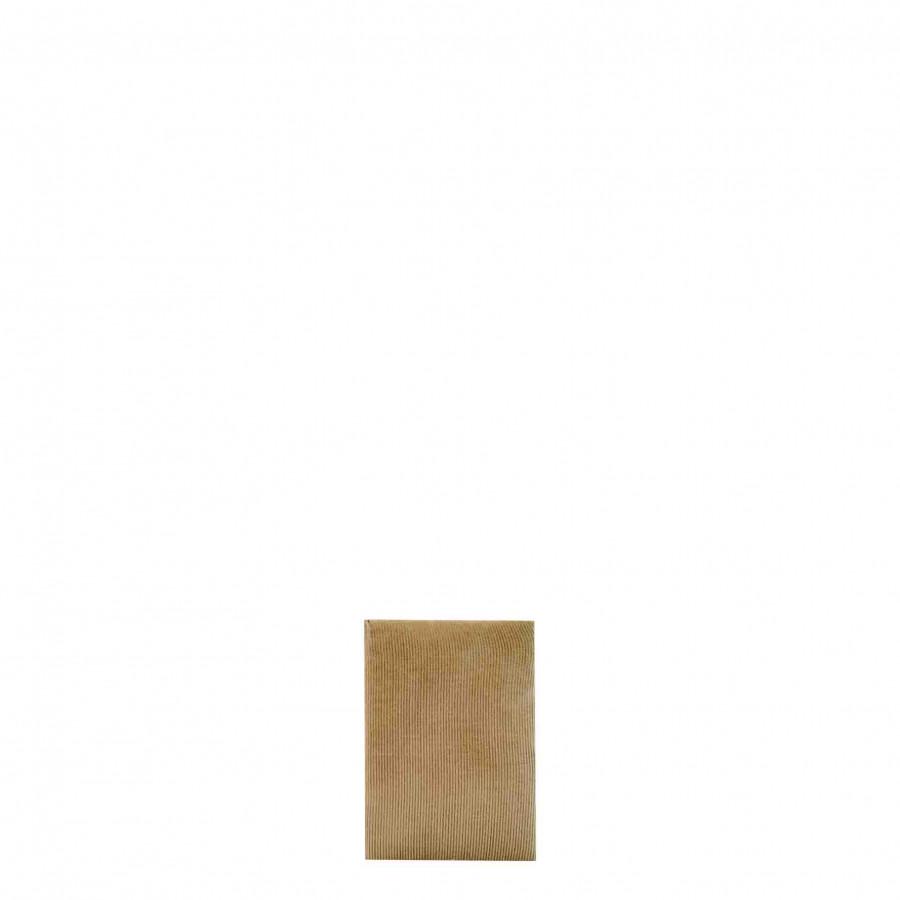 Cahier en velours noisette 7.5cm