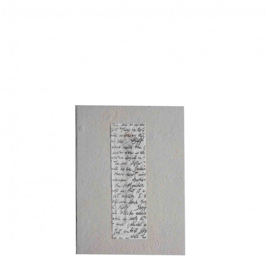 Cahier gris avec ecritures
