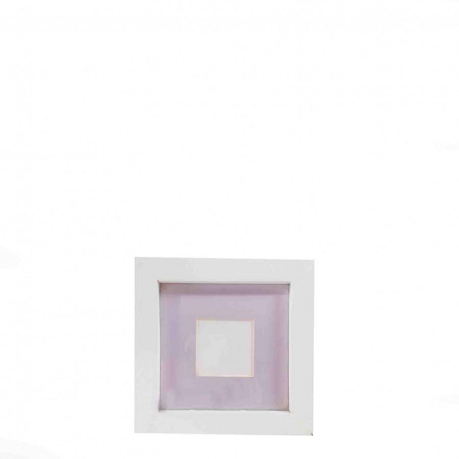 Cornice passe partout bianca/lilla 15 x 15 cm