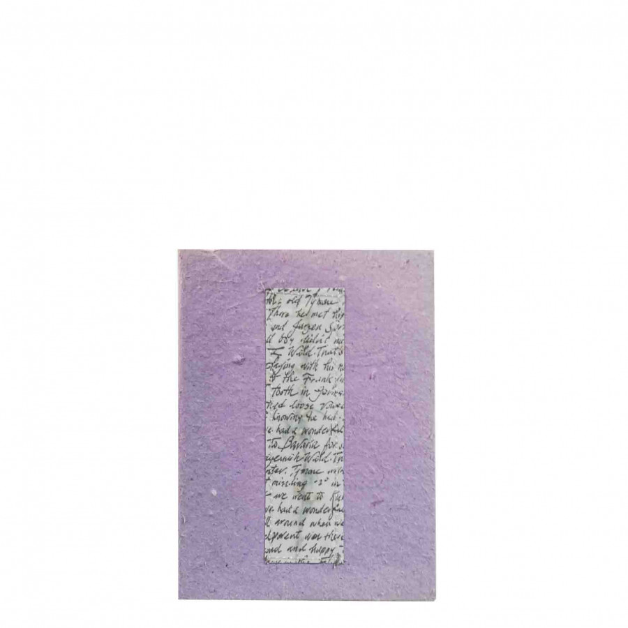 Cahier lilas avec fleurs 16x22 cm