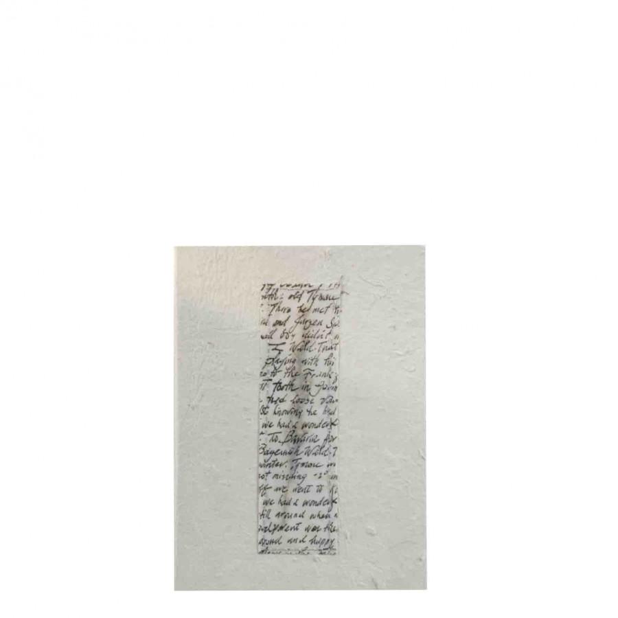 Cahier blanc avec fleurs 16x22 cm