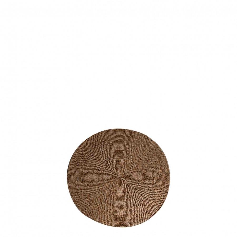 Cuscino corda chiara d41 h5 cm